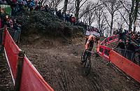 Mathieu van der Poel (NED/Corendon-Circus) chasing<br /> <br /> Elite Men's Race<br /> UCI CX Worlds 2018<br /> Valkenburg - The Netherlands