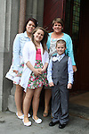 Aaron O'Brien with his sisters and Mother at the St Mary's Congress Avenue Communion in St.Mary's Church...(Photo credit should read Jenny Matthews www.newsfile.ie)....This Picture has been sent you under the conditions enclosed by:.Newsfile Ltd..The Studio,.Millmount Abbey,.Drogheda,.Co Meath..Ireland..Tel: +353(0)41-9871240.Fax: +353(0)41-9871260.GSM: +353(0)86-2500958.email: pictures@newsfile.ie.www.newsfile.ie.