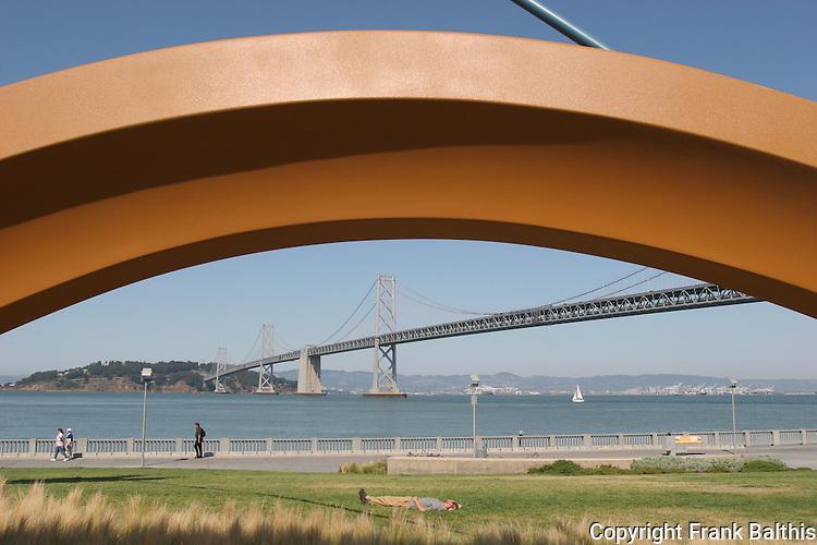 Sculpture and Bay Bridge