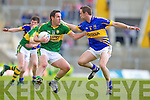 Declan O'Sullivan, Kerry in action against Robbie Costigan, Tipperary in the first round of the Munster Football Championship at Fitzgerald Stadium on Sunday.