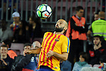 League Santander 2017/2018. Game: 05.<br /> FC Barcelona vs SD Eibar: 6-1.<br /> Javier Mascherano.