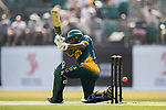 Jerry Nqolo of South Africa hits a shot during Day 1 of Hong Kong Cricket World Sixes 2017 Group A match between South Africa vs Pakistan at Kowloon Cricket Club on 28 October 2017, in Hong Kong, China. Photo by Yu Chun Christopher Wong / Power Sport Images