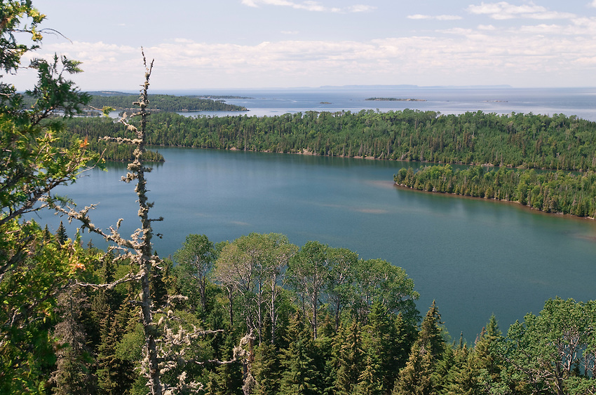 Views of the Five Finger Bay area of Isle Royale National Park as seen from Lookout Louise scenic overlook.