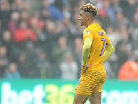 Preston North End's Callum Robinson looks dejected following his sides defeat<br /> <br /> Photographer Kevin Barnes/CameraSport<br /> <br /> The EFL Sky Bet Championship - Swansea City v Preston North End - Saturday August 11th 2018 - Liberty Stadium - Swansea<br /> <br /> World Copyright &copy; 2018 CameraSport. All rights reserved. 43 Linden Ave. Countesthorpe. Leicester. England. LE8 5PG - Tel: +44 (0) 116 277 4147 - admin@camerasport.com - www.camerasport.com