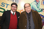 Terry Kinney and Richard Greenberg attend the press reception for the Opening Night of the Lincoln Center Theater Production of 'The Babylon Line'  at the Mitzi E. Newhouse Theatre on December 5, 2016 in New York City.