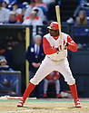 CIRCA 1997: Deion Sanders #21 of the  Cincinnati Reds at bat  during a game from his 1997 season with the Cincinnati Reds. Deion Sanders played 9 seasons, with 4 different teams.  (Photo by: 1997 SportPics)  *** Local Caption *** Deion Sanders
