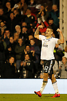 GOAL - Aleksandar Mitrovic of Fulham FC scores his second of the night during the Sky Bet Championship match between Fulham and Sheff United at Craven Cottage, London, England on 6 March 2018. Photo by Carlton Myrie.