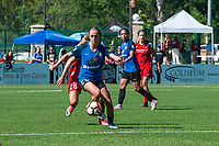 Kansas City, MO - Saturday May 13, 2017:  Brittany Ratcliffe during a regular season National Women's Soccer League (NWSL) match between FC Kansas City and the Portland Thorns FC at Children's Mercy Victory Field.