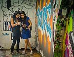 Graffiti Tunnel at Sydney University, NSW, Australia