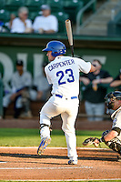 Brock Carpenter (23) of the Ogden Raptors at bat against the Grand Junction Rockies in Pioneer League action at Lindquist Field on August 24, 2016 in Ogden, Utah. The Raptors defeated the Rockies 11-10. (Stephen Smith/Four Seam Images)