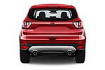 Straight rear view of 2017 Ford Kuga Titanium 5 Door SUV Rear View  stock images