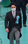 Japan's Environment Minister Shinjiro Koizumi wearing face masks attends the memorial service for the war dead of World War II marking the 75th anniversary in Tokyo, Japan on August 15, 2020. (Photo by AFLO)