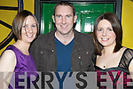 All smiles for the New Years Eve party in The Failte Bar, Killarney were Catriona O'Keeffe, Aidan Healy and Aileen O'Keeffe.