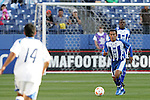 20 March 2008: Marvin Sanchez (HON) (16). The Honduras U-23 Men's National Team defeated the Guatemala U-23 Men's National Team 6-5 on penalty kicks after a 0-0 overtime tie at LP Field in Nashville,TN in a semifinal game during the 2008 CONCACAF Men's Olympic Qualifying Tournament. With the penalty kick victory, Honduras qualifies for the 2008 Beijing Olympics.