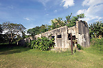 Photo shows the old jail where it is thought that aviator Emelia Earhart was imprisoned before her death in  Saipan. T.Robert Gilhooly Photo