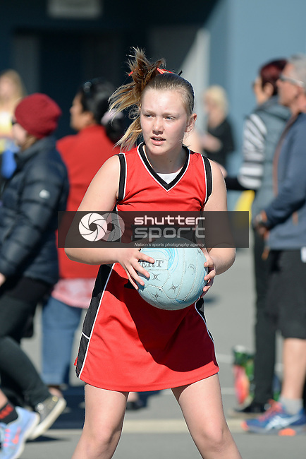 NELSON, NEW ZEALAND - September 12: 2015 Netball Finals at Saxton Courts on September 12 2015 in Nelson, New Zealand. (Photo by Barry Whitnall/Shuttersport Limited)