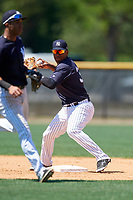 New York Yankees Abiatal Avelino (37) during a Minor League Spring Training game against the Detroit Tigers on March 21, 2018 at the New York Yankees Minor League Complex in Tampa, Florida.  (Mike Janes/Four Seam Images)