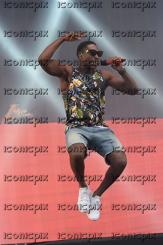 TINIE TEMPAH - performing live on the Main Stage on Day Three of the BBC RADIO 1 BIG WEEKEND on Glasgow Green in Glasgow Scotland UK - 25 May 2014.  Photo credit: George Chin/IconicPix