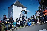 fans waiting for the peloton to ride by on the infamous Mur de Huy (1300m/9.8%)<br /> <br /> 79th Fl&egrave;che Wallonne 2015