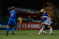 Seattle, WA - April 15th, 2017: Beverly Yanez and Raquel Rodriguez during a regular season National Women's Soccer League (NWSL) match between the Seattle Reign FC and Sky Blue FC at Memorial Stadium.