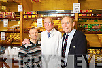 Jim Brosnan (centre) who retires from O'Sullivans delicatessen on Friday pictured with Danny Roche (on Left) and Der O'Sullivan.