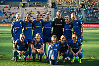 Seattle, WA - Saturday April 22, 2017: Seattle Reign FC starting eleven during a regular season National Women's Soccer League (NWSL) match between the Seattle Reign FC and the Houston Dash at Memorial Stadium.