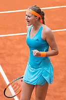 Madrid Open tennis in Madrid. Lauren Davis - Kristina Mladenovic