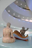 - Milano, il nuovo museo d'arte del 900 nel palazzo dell'Arengario in piazza del Duomo; scultura di Giorgio de Chirico<br /> <br /> - Milan, the new arts museum of the 900 in the Arengario palace at Duomo square