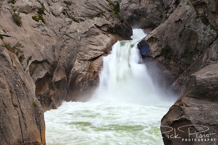 The Roaring River cascades over Roaring River Falls before flowing into the South Fork of the Kings River.