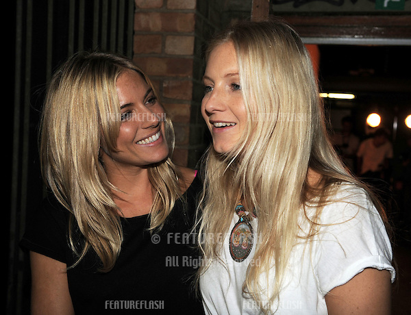 Sienna Miller and sister Savannah Miller backstage at The Twenty8Tweleve Fashion Show, The Old Sorting Office, London Fashion Week. 18/09/2010  Picture by: Simon Burchell / Featureflash.