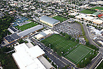 1309-22 3418<br /> <br /> 1309-22 BYU Campus Aerials<br /> <br /> Brigham Young University Campus, Provo, <br /> <br /> Athletics Complex, Indoor Practice Facility IPF, South Soccer Field, Smith Fieldhouse SFH, Student Athlete Building SAB, Richards Building RB<br /> <br /> September 6, 2013<br /> <br /> Photo by Jaren Wilkey/BYU<br /> <br /> &copy; BYU PHOTO 2013<br /> All Rights Reserved<br /> photo@byu.edu  (801)422-7322