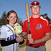 Twins Lyndsey and Will Shaw pose for a portrait at Sayville High School on Saturday, April 21, 2018. As seniors, Lyndsey has played on Sayville's varsity softball team for six years while while Will plays varsity baseball at St. John the Baptist in West Islip.