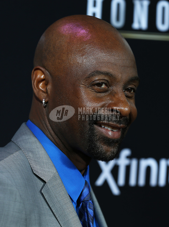 Feb. 2, 2013; New Orleans, LA, USA: San Francisco 49ers former wide receiver Jerry Rice walks the red carpet prior to the Super Bowl XLVII NFL Honors award show at Mahalia Jackson Theater. Mandatory Credit: Mark J. Rebilas-USA TODAY Sports
