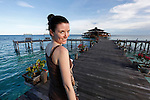 Allison is seen in front of the main resort building at Lankayan in the Sulu Sea on Wednesday May 1st 2013 in Sandakan, Malaysia. (Photo by Brian Garfinkel)
