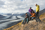 Hiking at Kaskawulsh Glacier in Kluane National Park, Yukon