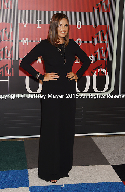 LOS ANGELES, CA - AUGUST 30: Actress Mariska Hargitay arrives at the 2015 MTV Video Music Awards at Microsoft Theater on August 30, 2015 in Los Angeles, California.