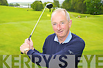 Denis Crowley Kenmare Golf Captain practise's his swing at the majestic Kenmare Golf Club ..