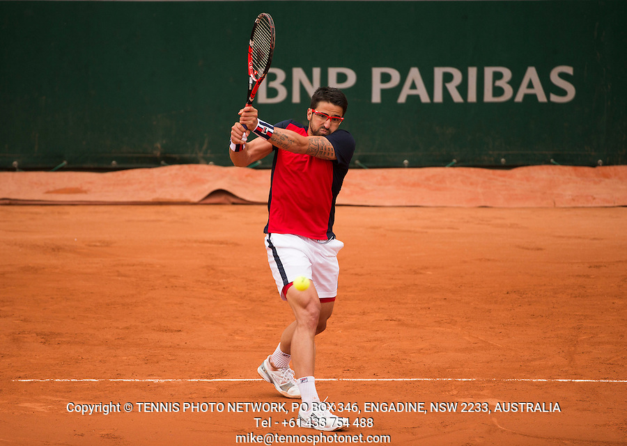 JANKO TIPSAREVIC (SRB)<br /> <br /> TENNIS - FRENCH OPEN - ROLAND GARROS - ATP - WTA - ITF - GRAND SLAM - CHAMPIONSHIPS - PARIS - FRANCE - 2016  <br /> <br /> <br /> &copy; TENNIS PHOTO NETWORK