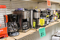 Small appliances at the soon to be closing Sears store in Rego Park in the New York borough of the Queens on Saturday, February 18, 2017. Sears Holdings has deemed the store unprofitable and it will be closing sometime in April. The store is one of the 42 stores they will close in the spring. Sears is also closing 108 Kmart stores. (© Richard B. Levine)