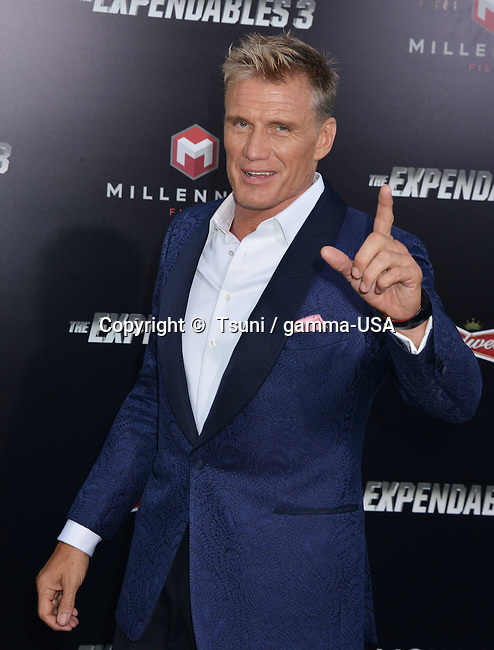 Dolph Lundgren at he Expendables 3 Premiere at the Chinese Theatre in Los Angeles.