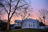 Dawn breaks behind the White House as the nation prepares for the inauguration of President-elect Donald Trump on January 20, 2017 in Washington, D.C.  Trump becomes the 45th President of the United States.  <br /> Credit: Kevin Dietsch / Pool via CNP