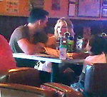 July 31st 2011   Sunday night ....LeAnn Rimes eating at Kings Fish House with Eddie Cibrian the kids & some happy big man in Calabasas California. LeAnn was kissing Eddie while inside eating & laughing at all his stories. LeAnn walked next door with the crew after dinner & ate some frozen yogurt at Menchies.  LeAnn was showing off her long legs wearing big stiletto high heel shoes short shorts white tank top & big leather purse. ..AbilityFilms@yahoo.com.805-427-3519.www.AbilityFilms.com.