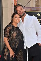 Eva Longoria &amp; Ricky Martin at the Hollywood Walk of Fame Star Ceremony honoring actress Eva Longoria, Los Angeles, USA 16 April 2018<br /> Picture: Paul Smith/Featureflash/SilverHub 0208 004 5359 sales@silverhubmedia.com