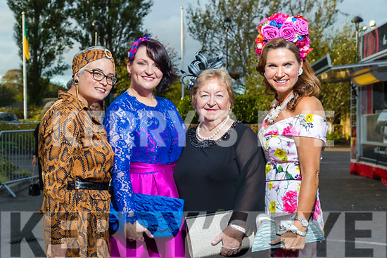 Cathy Trough (Firies), Maria Maher (Caherslee), Bridie Quinlan (Ballyduff),  Majella Duignan (Tralee) at the Rose of Tralee fashion show at the dome on Sunday night.