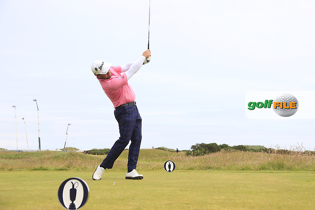 Graeme McDOWELL (NIR) tees off the 15th tee during Monday's Final Round of the 144th Open Championship, St Andrews Old Course, St Andrews, Fife, Scotland. 20/07/2015.<br /> Picture Eoin Clarke, www.golffile.ie