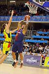 XXXVIII Lliga Nacional Catalana ACB 2017.<br /> FC Barcelona Lassa vs BC Morabanc Andorra: 89-70.<br /> John Shurna vs Edwin Jackson.