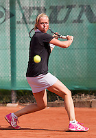 August 24, 2014, Netherlands, Amstelveen, De Kegel, National Veterans Championships, Marouschka van Dijk (NED)<br /> Photo: Tennisimages/Henk Koster