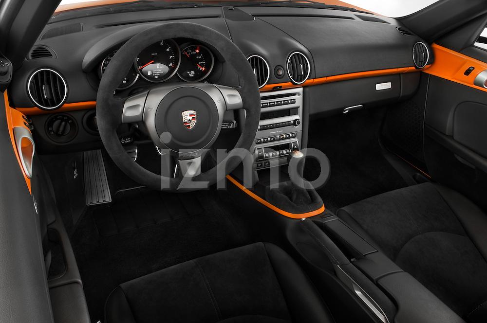 High angle dashboard view of a 2008 Porsche Boxster LE