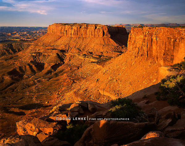 Sun Bathed Buttes At Canyonlands National Park, Utah