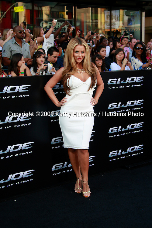 """Aubrey O'Day arriving at the """"GI JOE"""" Premiere at the Grauman's Chinese Theater in Los Angeles, CA  on August 6, 2009.  .©2009 Kathy Hutchins / Hutchins Photo.."""